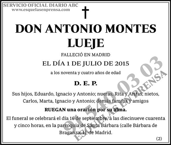 Antonio Montes Lueje